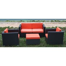 <strong>International Home Miami</strong> St. Tropez 5 Piece Deep Seating Group with Cushions