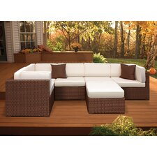 <strong>International Home Miami</strong> Aventura Outdoor Wicker Set with Antique Beige Cushions