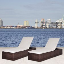 <strong>International Home Miami</strong> Oxford Chaise Lounge with Cushion (Set of 2)