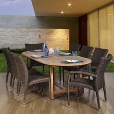 <strong>International Home Miami</strong> Atlantic 9 Piece Dining Set