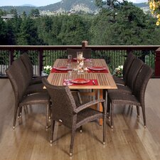 <strong>International Home Miami</strong> Normandie 9 Piece Dining Set