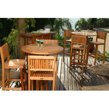 <strong>International Home Miami</strong> Amazonia Leicester 4 Piece Bar Height Dining Set