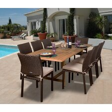 <strong>International Home Miami</strong> Amazonia Lens 9 Piece Dining Set
