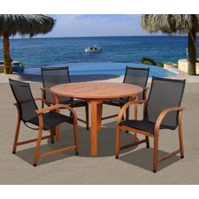 <strong>International Home Miami</strong> Amazonia Jersey 5 Piece Dining Set