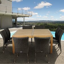 <strong>International Home Miami</strong> Amazonia Teak Albany 9 Piece Dining Set