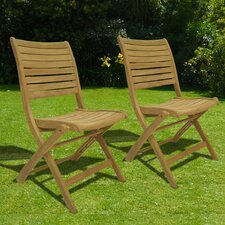 <strong>International Home Miami</strong> Sydney Folding Dining Side Chairs (Set of 2)