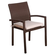 <strong>International Home Miami</strong> Atlantic Dining Arm Chair with Cushion