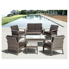 Atlantic Java 7 Piece Lounge Seating Group with Cushion
