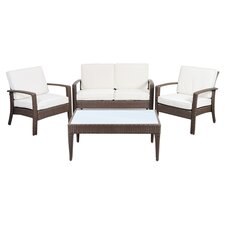 Atlantic Java 4 Piece Lounge Seating Group with Cushions