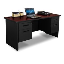 "Pronto 24"" D Double Pedestal Credenza Desk with Box and File"