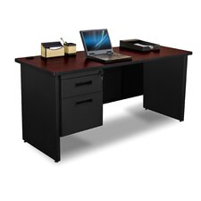 Pronto Executive Desk with Single Pedestal and Box / File