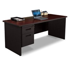 "Pronto 30"" D Single Pedestal Desk with Box and File"