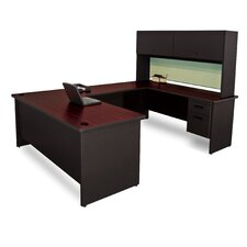 Pronto U-Shaped Desk with Flipper Door Unit