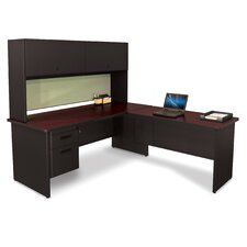 Pronto L-Shape Return Executive Desk with Lock