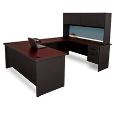 Pronto Executive Desk with Flipper Door Unit