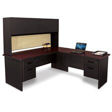 Pronto L-Shape Executive Desk with Return and Pedestal
