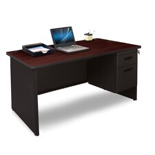 Pronto Single Pedestal Desk with Box and File