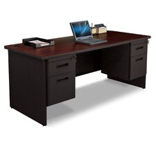 "Pronto 72"" W Double Pedestal Desk with Box and File"