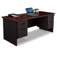 Pronto Executive Desk with Double Pedestal