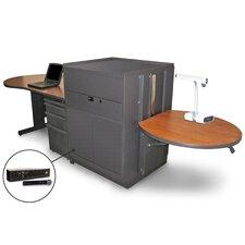 Vizion Stationary Desk and Media Center