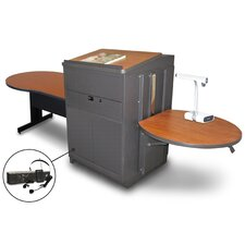 Vizion Keyhole Table with Media Center and Lectern