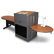 Vizion Peninsula Table with Media Center and Lectern