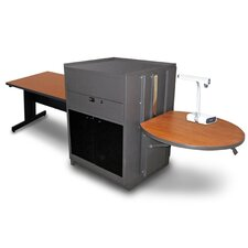 Vizion Rectangular Table With Media Center