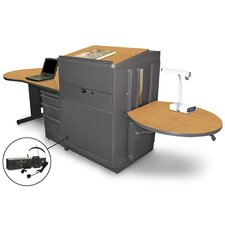 Vizion Stationary Desk with Media Center