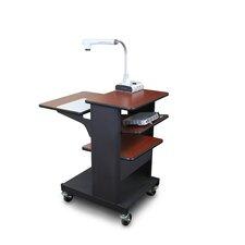 Vizion Benchmark Mobile Presentation Cart and Tilting Shelf