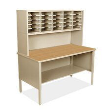Mailroom 25 Adjustable Slot Literature Organizer with Riser