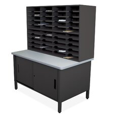 Mailroom 40 Slot Organizer with Cabinet