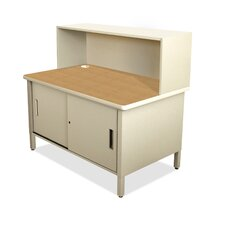 Mailroom Utility Table with Cabinet