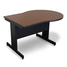 Vizion Keyhole Laminate Top Side Table with Modesty Panel