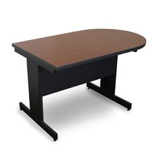 Vizion Peninsula Laminate Top Side Table with Modesty Panel