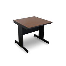 Vizion Rectangular Laminate Top Side Table with Modesty Panel