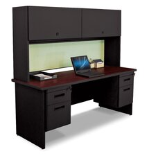 Pronto Executive Desk with Flipper Door Cabinet and Box/File