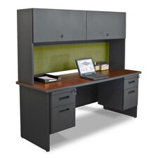 Pronto Flipper Door Cabinet Executive Desk with Lock