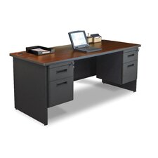Pronto Double Pedestal Computer Desk with 2 Right & 2 Left Drawers
