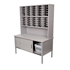 <strong>Marvel Office Furniture</strong> 50 Adjustable Slot Literature Organizer with Riser and Cabinet