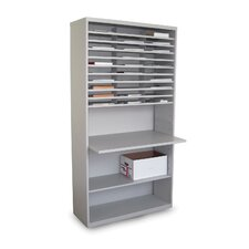 Mail Sorter Workstation with Adjustable Work Surface