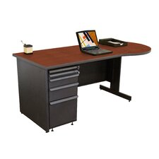 Zapf Teachers Computer Desk with 3 Left Drawers