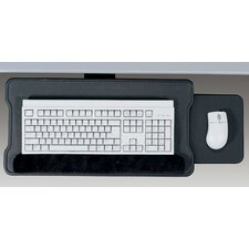 Articulating Keyboard Platform with Slide Out Mouse Tray