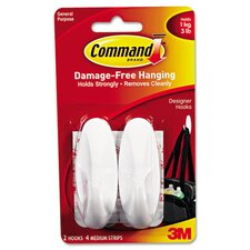 <strong>Command</strong> General Purpose Designer Hooks (2 Pack)
