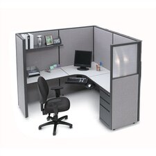 L-Shape Corner Workstation