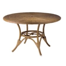 WickerLoom Round Wicker Top Table
