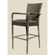 All-Weather Padded Seat Counter Stool with Arm
