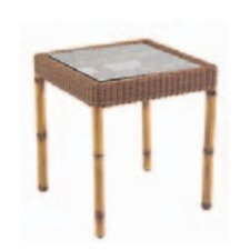 South Terrace Square End Table with Glass Top