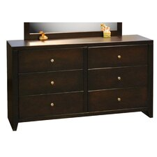 Urban Loft 6 Drawer Dresser