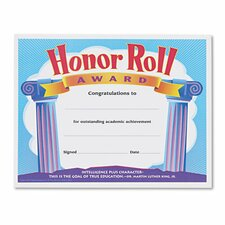 Honor Roll Award Certificate (Set of 30)