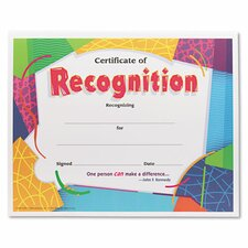 Certificate of Recognition Awards (Set of 30)